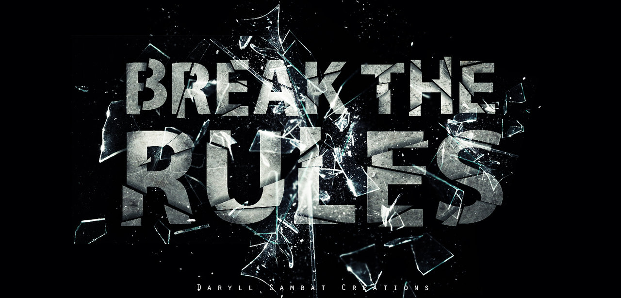Savoir enfreindre les règles