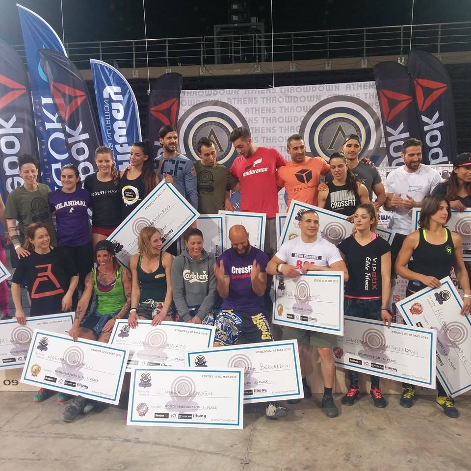 Performances de nos français au Athens Throwdown 2015
