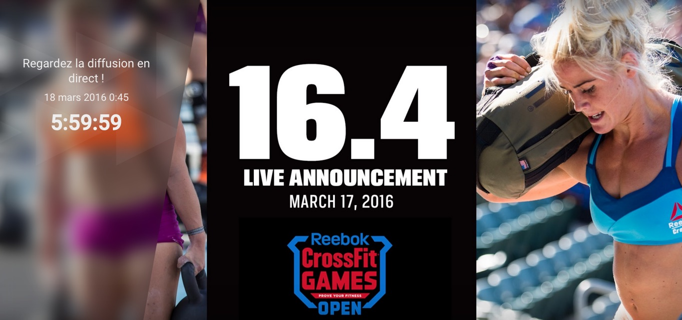 L'annonce de l'Open Workout 16.4 en direct de Colorado Springs