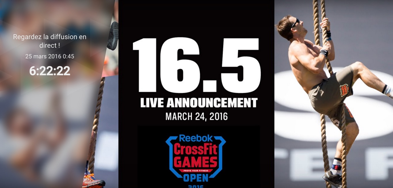 L'annonce de l'Open Workout 16.5 en direct du Ranch