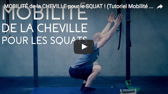 Tutoriel vidéo avec Jack's Team : MOBILITÉ de la CHEVILLE pour le SQUAT !