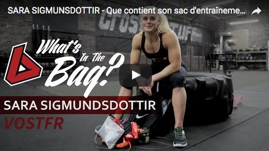 Qu'y a-t-il dans le sac CrossFit de Sara Sigmundsdottir ?