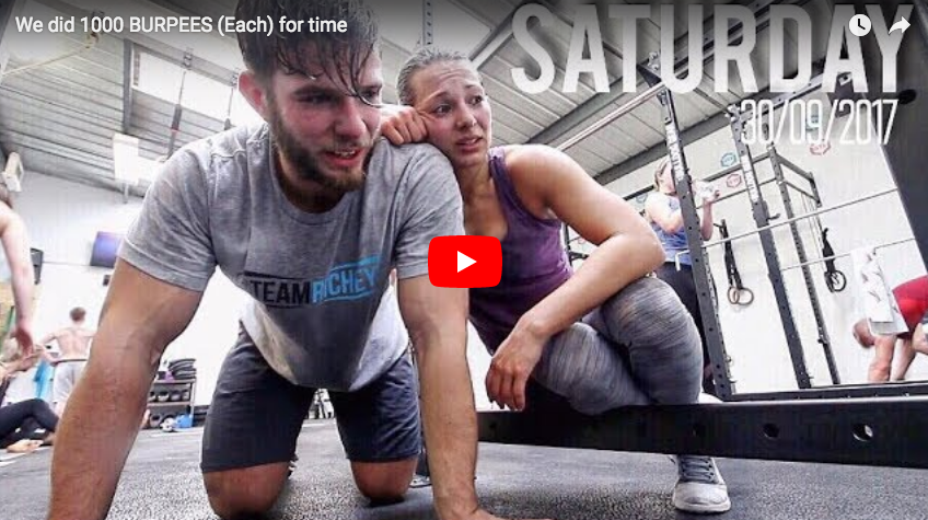 Challenge CrossFit : 1000 burpees for time avec TEAM RICHEY