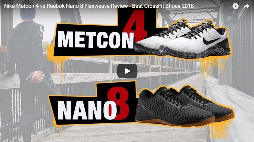 Nike Metcon 4 vs Reebok Nano 8 FlexWeave : le duel !