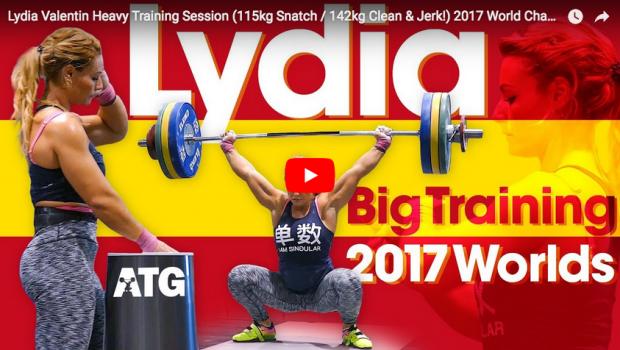 Haltérophilie : Lydia Valentin Heavy Training Session (115kg Snatch / 142kg Clean & Jerk)