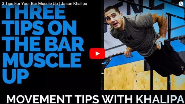 [Vidéo] 3 astuces de Jason Khalipa pour passer les Bar Muscle-ups !