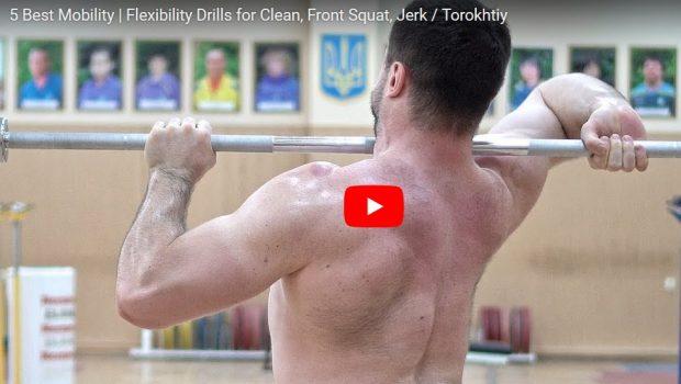 Les 5 meilleurs exercices de mobilité pour le Clean, Front Squat, Jerk !