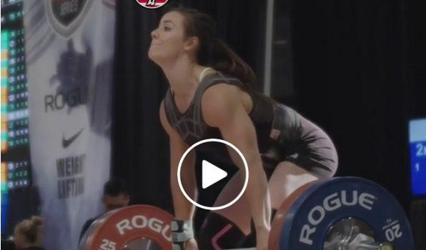 Le Clean and Jerk à 110 kg de Camille Leblanc-Bazinet en slow-motion !
