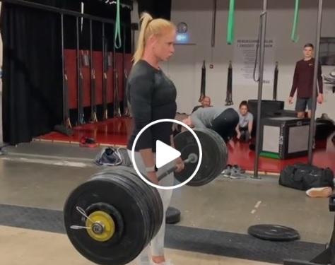 5 X172,5kg au Deadlift pour Annie Thorisdottir !