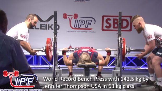 Record du monde de développé-couché féminin : 142.5 kg pour 63 kg de PDC !