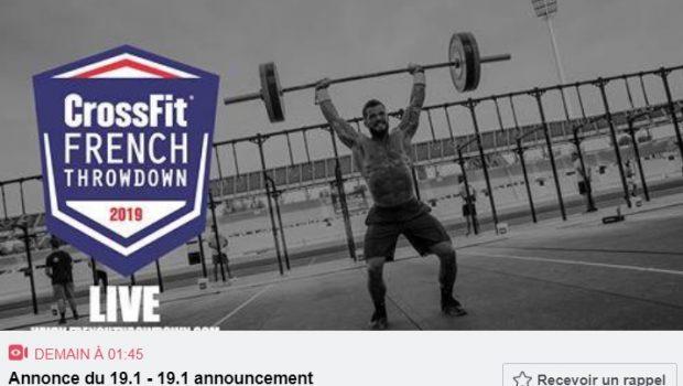Direct Live ! Regardez l'annonce du WOD 19.1 des CrossFit ®* Open 2019 !