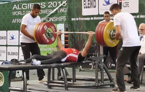206 kg au développé-couché pour Sherif Osman, athlète paralympique !