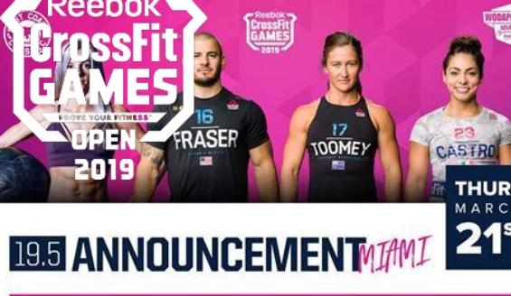 Direct Live ! Regardez l'annonce du WOD 19.5 des CrossFit ®* Open 2019 !