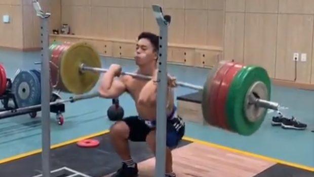 Doublé au front squat à 200 kg pour Lee Sang (67 kg de PDC) !