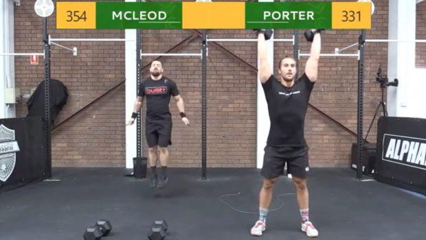 Regardez l'affrontement entre Matt McLeod et Khan Porter sur le WOD 20.2 des CrossFit ®* Open !