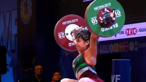 95 kg au snatch pour Janeth Gomez et ses… 59 kg de poids de corps !