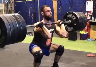 Arthur Satis, CrossFit ®* Caen : superbe clean à 161 kg !